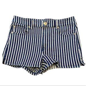 AE Next Level Stretch Navy Pinstripe shorts sz 10
